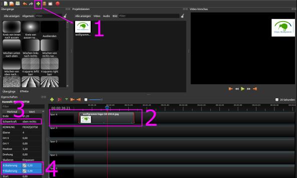 Eigenes TV-Logo oder Senderlogo mit OpenShot einfügen